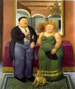 Botero a Roma - coppia presidenziale